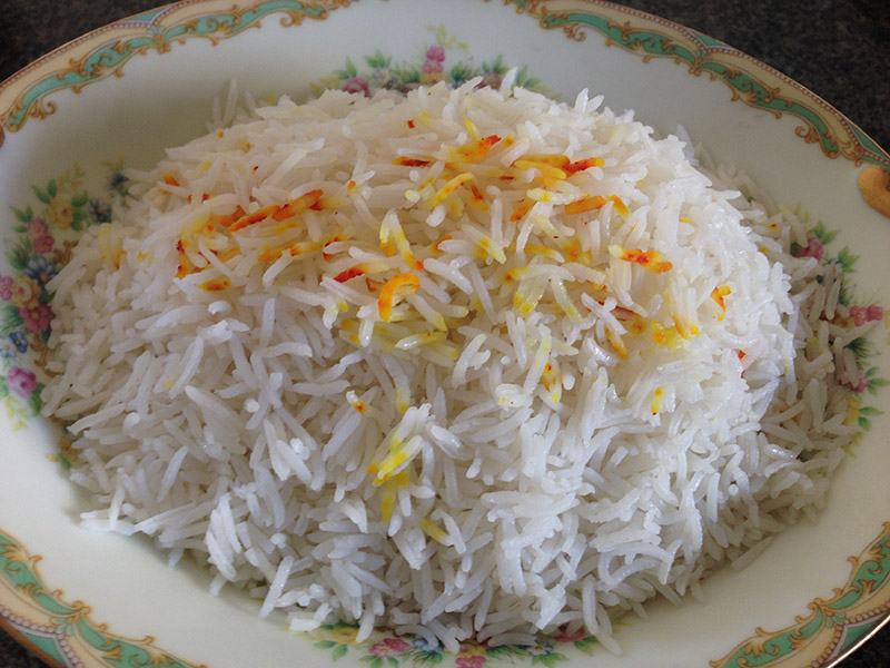 Persian Style Plain and Simple Rice