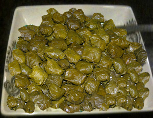 Stuffed Grape Leaves with Rice and Herb