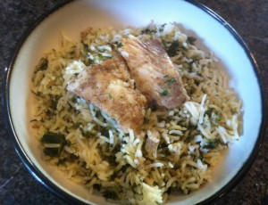 Herb Rice with Fish