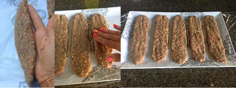 Beef Kebob Preparation Without Skewer