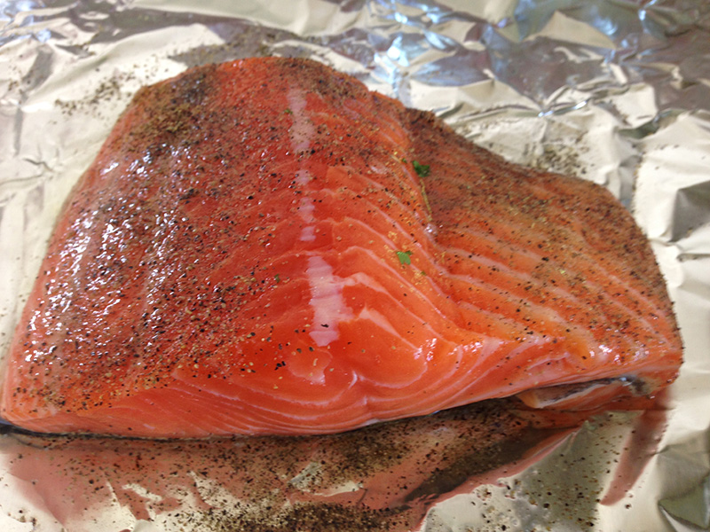 Salmon with seasoning
