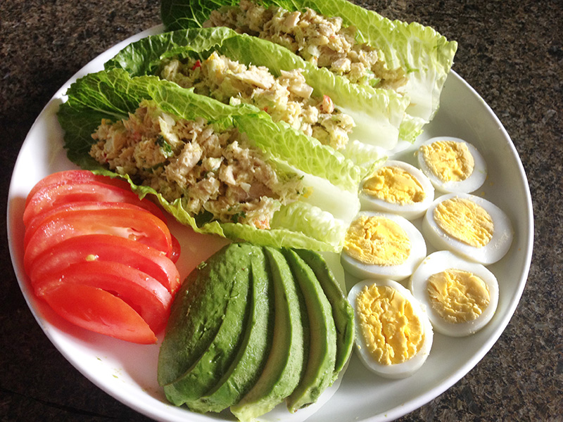 Zesty Tuna Salad on Lettuce