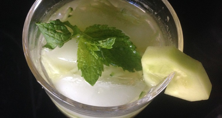 Cucumber Drink With Honey Mint Syrup