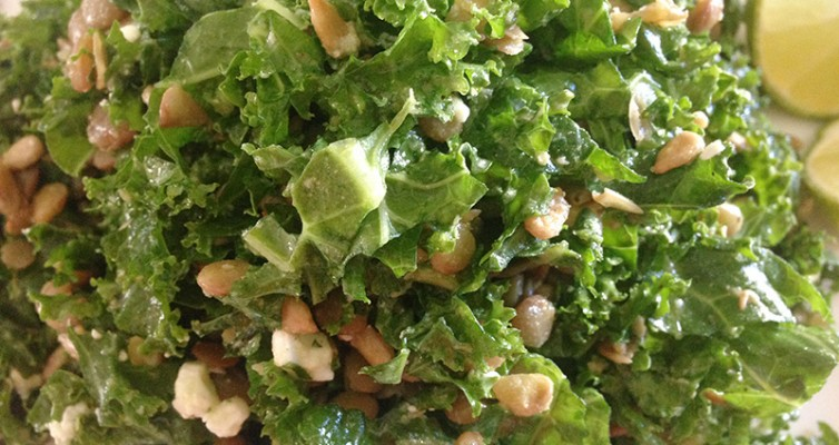 Kale and Lentils Salad with Lime Vinaigrette
