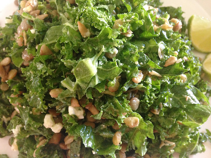 Kale and Lentils Salad with Lime Vinaigrette