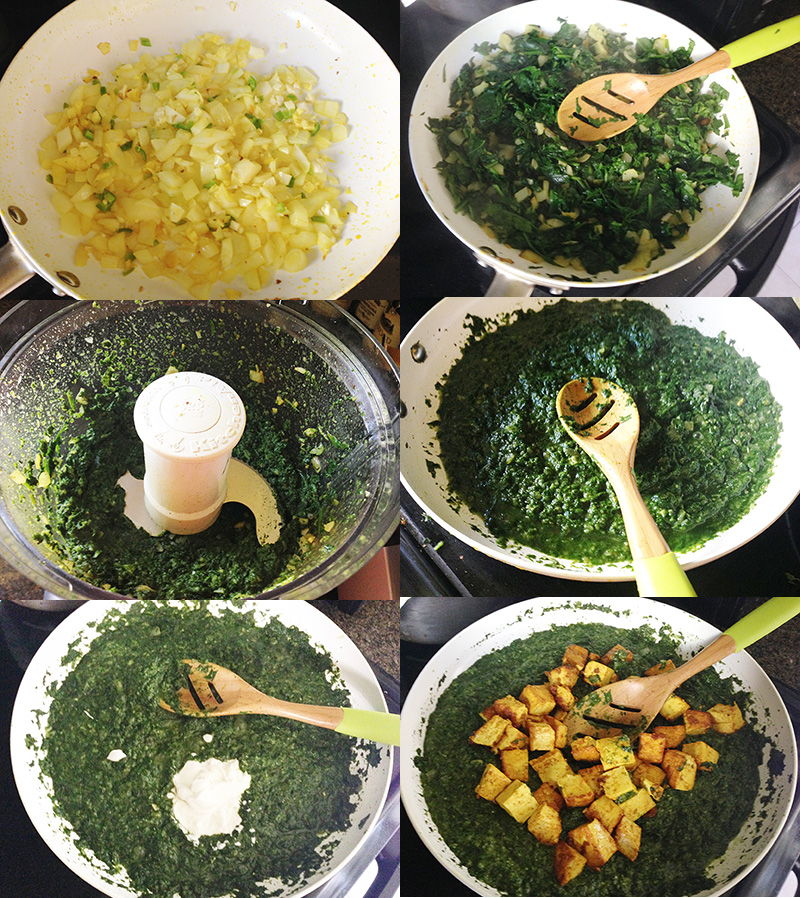 Indian Spiced Spinach Dish Step by Step
