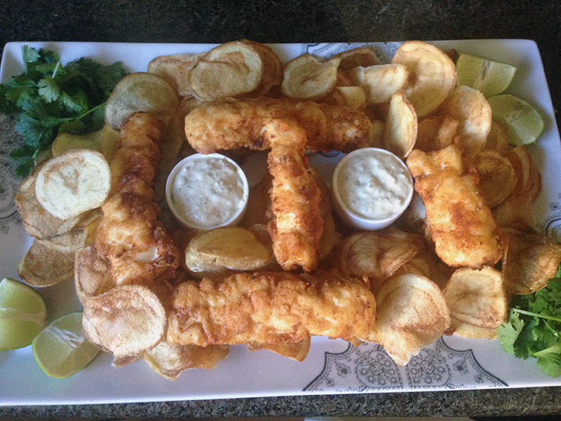 Fish & Chips With Homemade Tartar Sauce