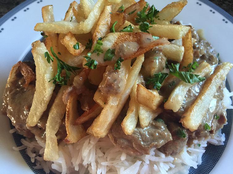 Beef-Stroganoff With rice