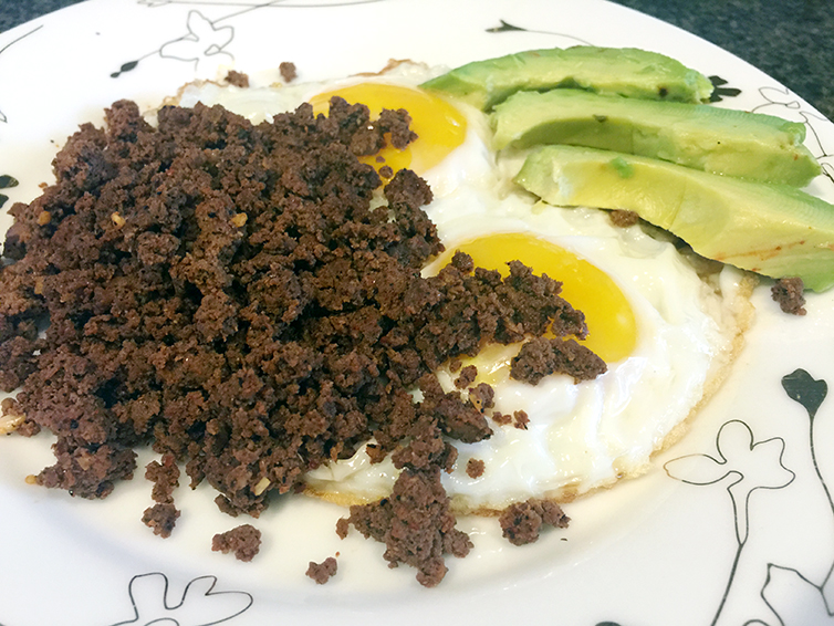 Beef Chorizo With Over Easy Eggs
