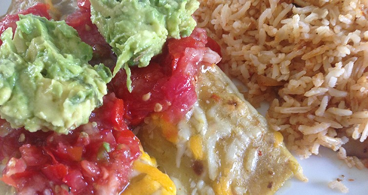 Vegetarian Enchiladas With Verde Sauce
